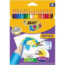 papier peint a colorier bic kids aquacouleur crayons de couleur etui carton de 24