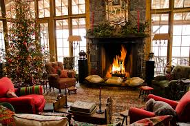 Christmas Livingroom Living Room Classical Christmas Tree With Baubles Decorating