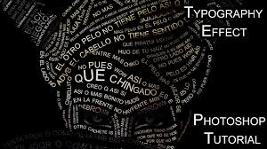 typography portrait tutorial photoshop elements typography effect photoshop tutorial youtube