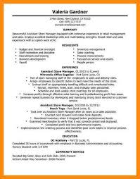 Resume Examples Retail by Resume Examples Grocery Store Manager Templates