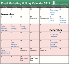 important dates for your 2013 promotional calendar