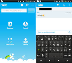 skype android app skype for android updated newly reved im interface and