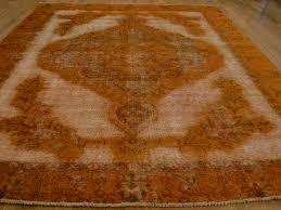 Burnt Orange Rugs 9 U0027 X 12 U0027 Overdyed Burnt Orange Worn Persian Tabriz Handmade