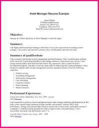 Resume Format For Hotel Management Resume Sample Hotel Management Loses Advice Cf