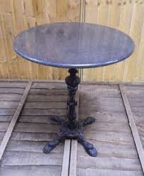 Granite Top Bistro Table Cast Iron Base Stand Table With Grey Granite Table Top Bistro