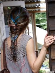 Ombre Hair Extensions Tape In by 22 Inch Blue Characteristic Tape In Hair Extensions Straight 10pcs