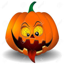 funny and scary halloween pumpkin cartoon royalty free cliparts