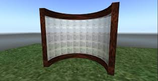 second life marketplace tm cylindrical half wall room divider 3 prim