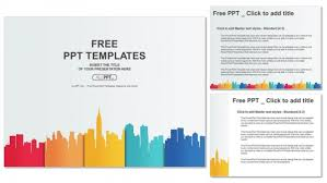 powerpoint design colors city buildings silhouettes and colors powerpoint templates