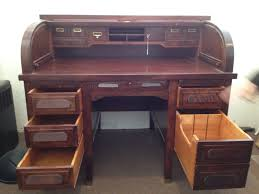 riverside roll top desk desk antique quarter sawn oak high s raised panel roll top desk