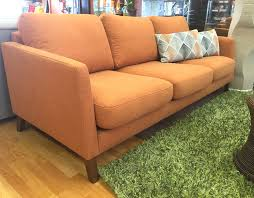 Sofa Fabric Stores Sunset Collection Orange Fabric Sofa Ds In Store Sale