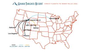 Phoenix Airport Terminal Map Fly Here Grand Targhee Resort