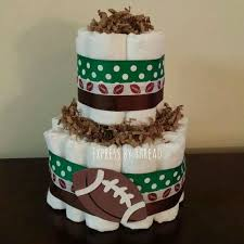 Diaper Cake Centerpieces by Best 25 Football Diaper Cakes Ideas Only On Pinterest Sports