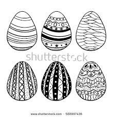 vector illustration easter eggs on gray stock vector 262537244