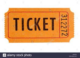 raffle tickets orange raffle ticket isolated on white background stock photo