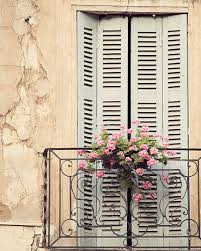 French Country Wall Art - rustic window french country decor provence photograph