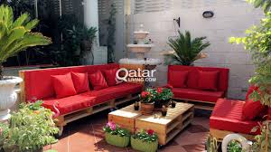 Patio Furniture From Pallets by Outdoor Furniture From Wooden Pallets Qatar Living