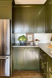 green chalk paint kitchen cabinets olive green kitchen cabinets painted by payne