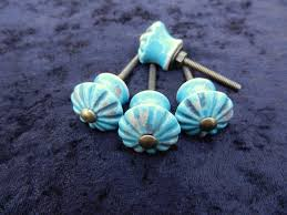 Ceramic Kitchen Cabinet Knobs by Turquoise Ceramic Knobs Antique Drawer Pulls Cabinet Knobs