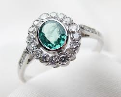 gold emerald engagement rings deco emerald halo ring circa 1930 white gold emerald ring