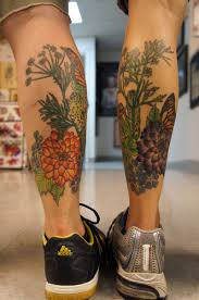 butterfly leg tattoos cool tattoos bonbaden