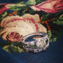 Vintage Wedding Ring Sets by Vintage Wedding Set Retro Engagement Ring Set Clarendon
