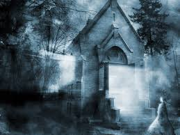 halloween ghost and haunted house background haunted house wallpaper for computer wallpapersafari