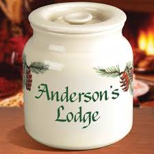 personalized cookie jars personalized cookie jar pine cone design find pottery cookie