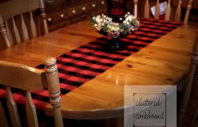 buffalo plaid table runner 2016 cluttered corkboard