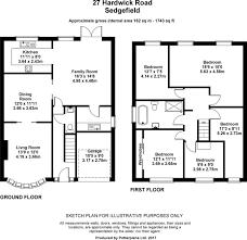 Hardwick Hall Floor Plan by 5 Bedroom Detached House For Sale In Hardwick Road Sedgefield