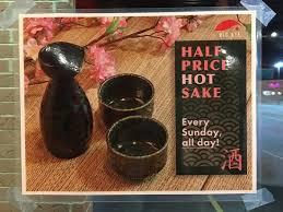 half price restaurant keep warm just go to bigeye japanese restaurant enjoy half price