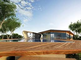 Pool House Design S Shaped Home Design