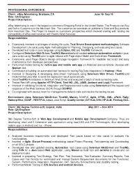 xml testing resume sample sample resume for quality analyst