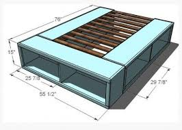 How To Make A Queen Size Platform Bed Frame by Best 25 Platform Bed Storage Ideas On Pinterest Bed Frame