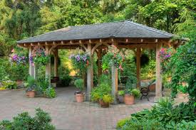 Triyae Backyard Pergola Pictures Various Design Image With - Backyard shelters designs