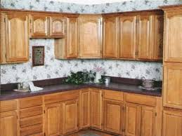 wallpaper kitchen backsplash ideas ornate wallpaper backsplash with light oak cabinets zach hooper