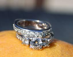 moissanite wedding sets moissanite rings