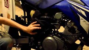 how to change the air filter on a yamaha ttr 125 youtube