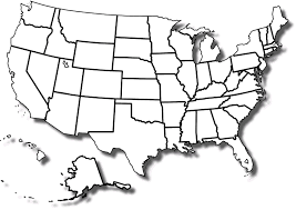 Map Of American States Map Of Us States Without Names Businessontravel Com