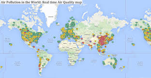 Real Time Maps Use This Interactive Map To Discover The Air Pollution Levels In