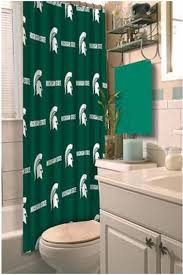 University Of Michigan Curtains Amazon Com Ncaa Michigan State Spartans Shower Curtain Home