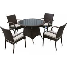 small round table with 4 chairs small round garden table 4 seat set in chocolate and cream ideal