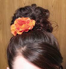 flower hair bun flower in hair s place for hair