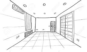 sketch room photo collection empty room drawing