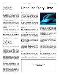 sample blank newspaper free newspaper templates print and digital makemynewspaper com