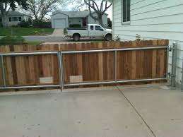 Decorative Wood Post 42 U2033 Wood Gate With Steel Posts And Framework Installed In