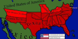 Map Of Americas Map Of Confederate States Of America By Victaemaps On Deviantart
