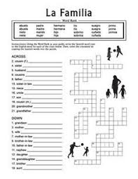 la familia free worksheet packet on family words in spanish