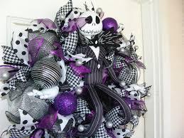 house gift purple jack skellington christmas wreath nightmare before