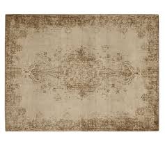 Pottery Barn Rugs Kids Fallon Persian Style Printed Rug Neutral Pottery Barn